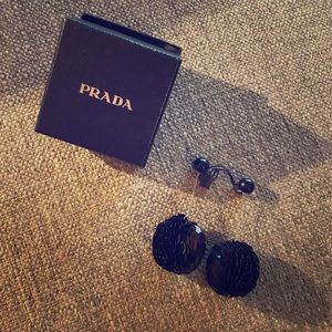 Prada sequin drop earrings